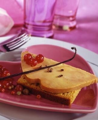 Foie gras sur canap de pain d 39 pices for Canape foie gras