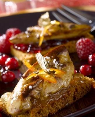 recette foie gras fruits roges